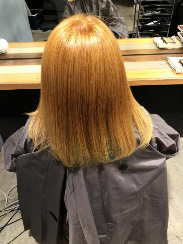 カラー した 髪 ブリーチ